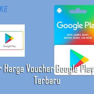 Daftar Harga Voucher Google Play 2020 Terbaru