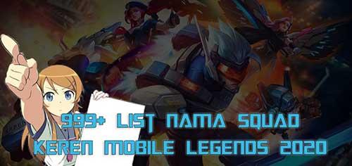 Nama Squad Keren Mobile Legend