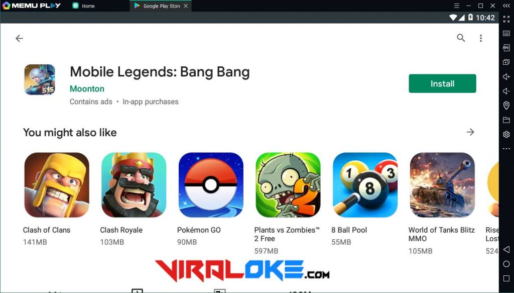 Download Mobile Legends di PC