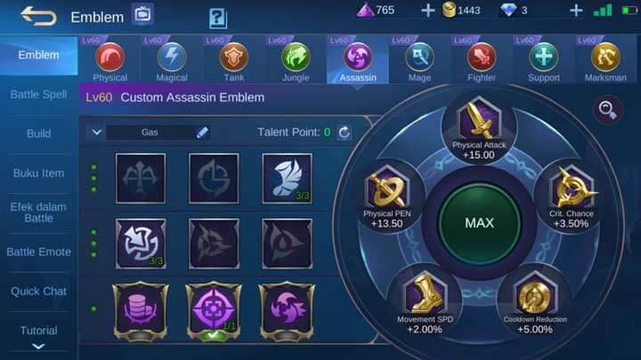 Emblem Assasin Max