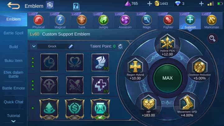 Emblem Support Max