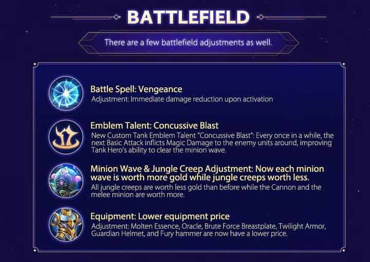 Penyesuaian Battlefield Mobile Legends Update Patch Note 1.4.86