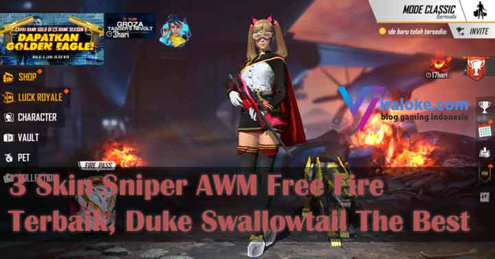Skin Sniper AWM Free Fire Terbaik