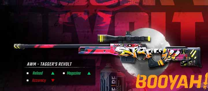 Skin Sniper AWM Tagger's Revolt