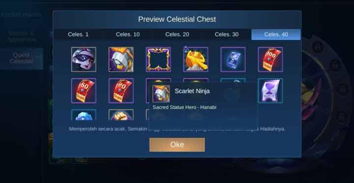 Membuka Box Quest Celestial