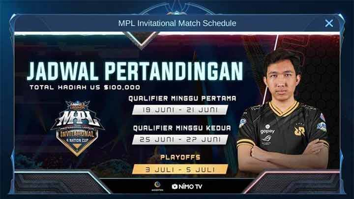 Jadwal MPL Invitational 4 Nations Cup