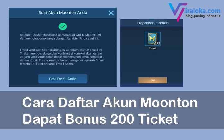 Cara Daftar Akun Moonton Dapat Bonus 200 Ticket