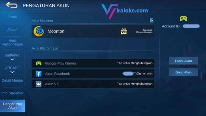 Cara Membuat Akun Mooonton Mobile Legends