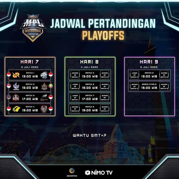 Jadwal Pertandingan Babak Plaoffs MPL Invitational 4 Nations Cup