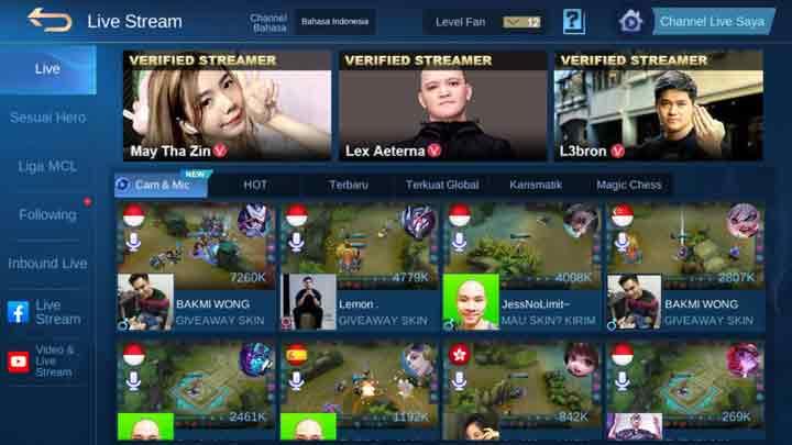 Live Streaming Mobile Legends