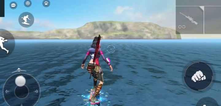 Bug Free Fire Surfing di Laut Keluar Map