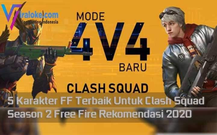 Karakter FF Terbaik Untuk Clash Squad