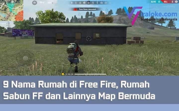9 Nama Rumah di Free Fire, Rumah Sabun FF dan Lainnya Map Bermuda