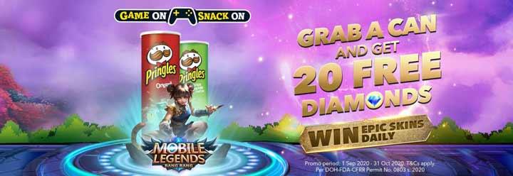 Event Mendapatkan Diamond Gratis Pringles Mobile Legends