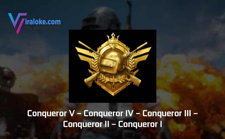 Pangkat Tier Rank Conqueror Pubg Mobile