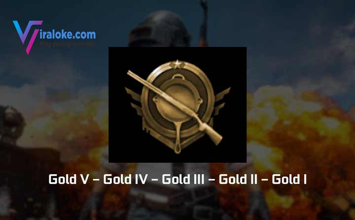 Pangkat Tier Rank Gold Pubg Mobile