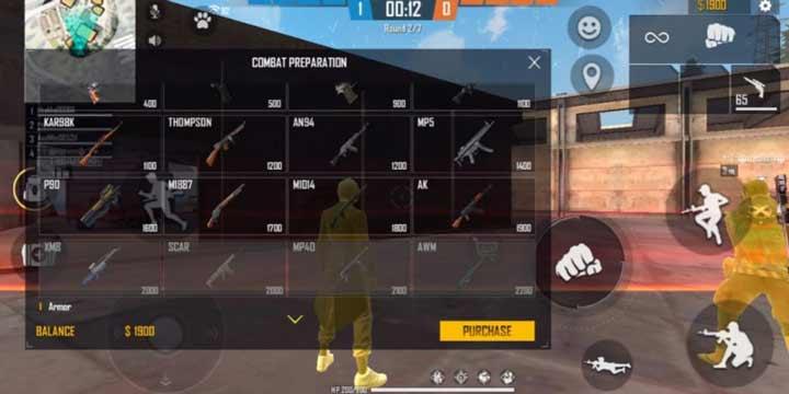 Buy Menu Free Fire Weapon Shop Clash Squad