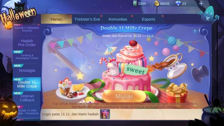 Event Double 11 Miles Crepe Mobile legends