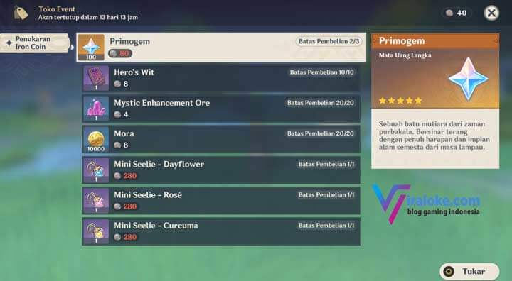 Dapatkan 300 Primogems, Event Harta Yang Hilang Genshin Impact! 1