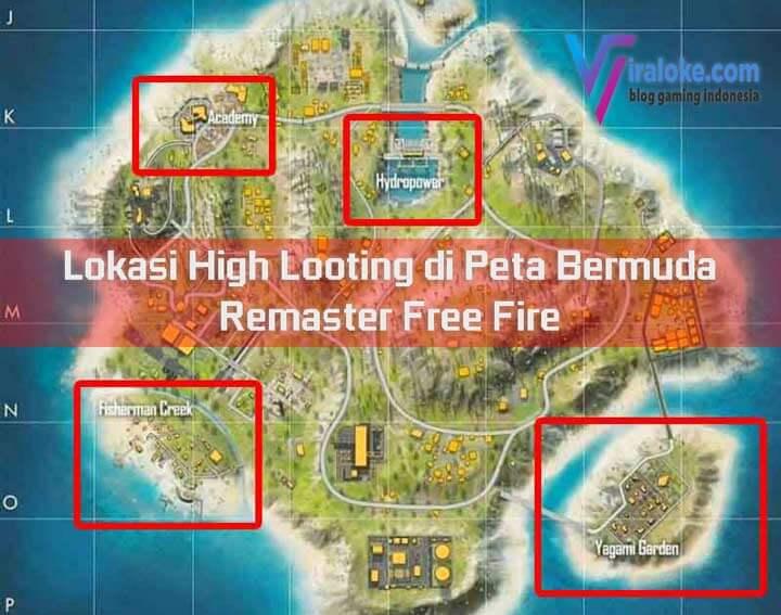 Lokasi High Looting di Peta Bermuda Remaster Free Fire