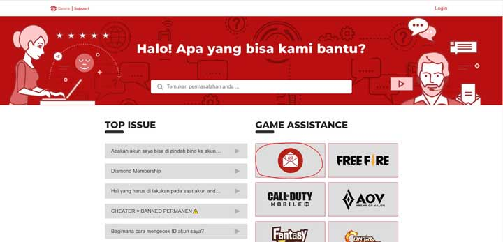 Player Support Garena