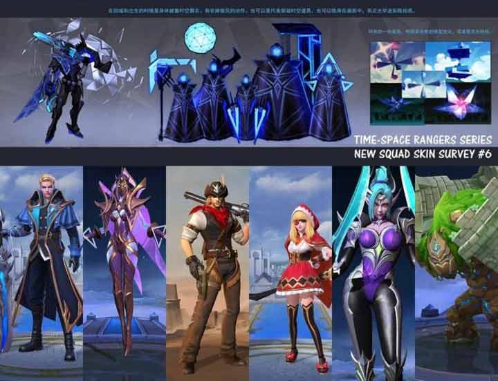 Time Space Rangers Squad Squad Mobile Legends
